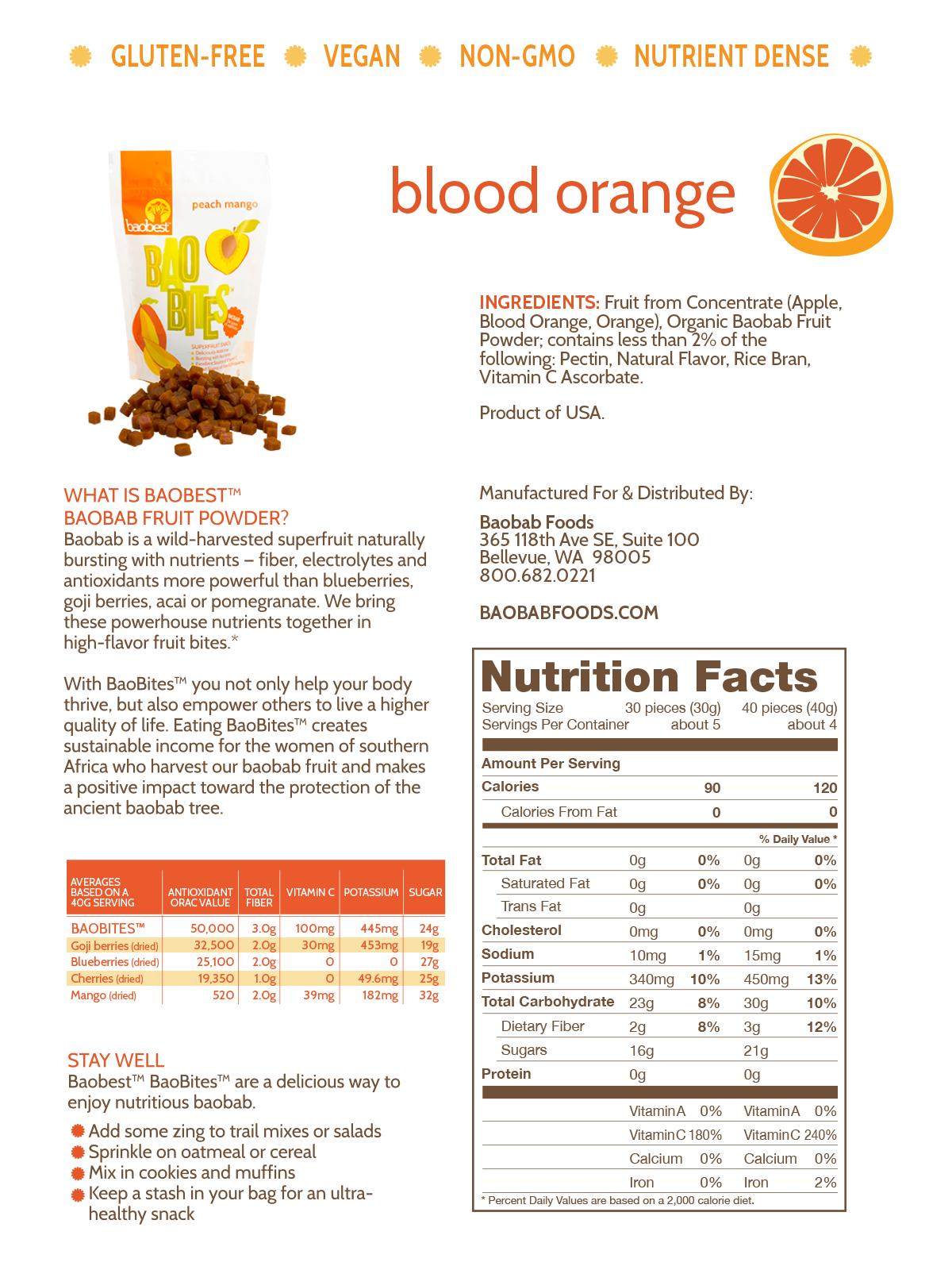 Blood Orange BaoBites - 5.5 oz. - Baobest
