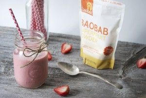 Strawberry Baobab Smoothie