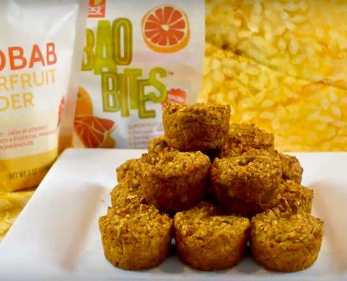 Gluten Free Baobab Pumpkin Spice Muffins
