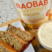 Delicious baobab banana bread recipe