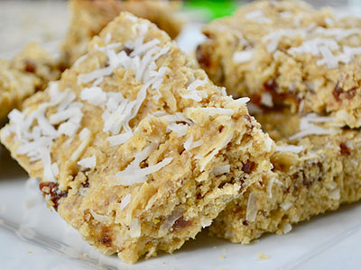 Gluten Free Recipe - Baobab Lemon and Coconut Bars